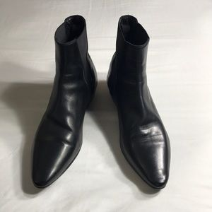 Saint Laurent all napa leather booties size 39